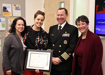 Tara Benesch receives the U.S. Public Health Service Excellence in Public Health Award