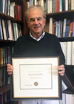 Professor Scheffler with Berkeley Citation