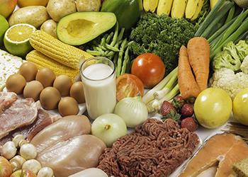 assortment of food
