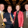 Dr. Donald P. Francis, executive director, Global Solutions for Infectious Diseases (award presenter); Dr. Marcus A. Conant, dermatologist and HIV/AIDS primary care physician (honoree); Mary Robinson, former president of Ireland and former UN High Commissioner for Human Rights (honoree); Stephen M. Shortell, dean, UC Berkeley School of Public Health