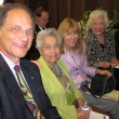 Left to right: Larry Wallack; Professor Emerita Joyce C. Lashof, the School's former dean; Professor Meredith Minkler; and Carol D'Onofrio