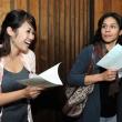 Scholarship recipients Nancy Pham and Maria Garcia-Jimenez