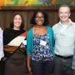 Alaya Levi Salley (middle), who received the Public Health Alumni Association (PHAA) Diversity Award, with current and past PHAA board members (left to right) John Troidl M.B.A., Ph.D. '01, Deniz Kursunoglu M.P.H '11, Robert Beatty, and Beth Roemer