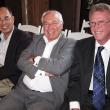 Left to right: Professor Emeritus Teh-wei Hu; Professor Ralph Catalano; and Professor Emeritus Thomas Rundall