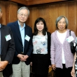 Left to right: Professor Emeritus Teh-Wei Hu, H.C. Homg, Jing Li, Tien-hwa Hu, Bung Fung Tomg. Jing Li is the recipient of the Teh-wei Hu Scholarship and the C.C. Chen Scholarship, which is sponsored by the Tomg family.