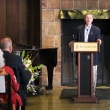 """Dean Stephen Shortell welcomes guests and remembers """"Warren's spirit of inquiry, his courage to challenge really difficult problems, and his friendship to all of us."""""""