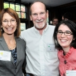 Beth Roemer, past president of the Public Health Alumni Association; Mike Hannigan, cofounder of Give Something Back, Inc.; and Beth Malinowski, recipient of the Give Something Back, Inc. Scholarship