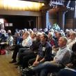 Guests listen to speakers celebrating the life of Warren Winkelstein Jr.