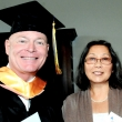 Graduating student Paul Nugent and program manager Susie Lewin