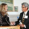 Graduating student Maia Barrow and program director Nap Hosang