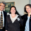 Nap Hosang, program director; Deborah Barnett, director of online pedagogy; Corinna Fong, program staff