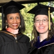 Public Health Alumni Association President Lucinda Bazile M.P.H. '94 and Alumna of the Year Katharine Pollard Ph.D. '03