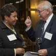 Janet Spears, East Bay Community Foundation, and Alfredo Terrazas, sharing a chat about the newest KP scholars class.