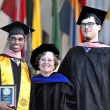 Joan R. Bloom PhD (center) presents Andrew Sudler MPH '16 (left) and Nathan Kamps-Hughes MPH/MSW '16 (right) with the 2016 Henrik L. Blum Award for Distinguished Social Action