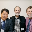 Winston Wong and Richard Quint connect with John R. Balmes MD, Director, Joint Medical Program and Professor of Environmental Health Sciences.