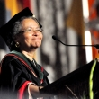 Camara Phyllis Jones MD, PhD, MPH, senior fellow at the Satcher Health Leadership Institute at Morehouse School of Medicine and president of the American Public Health Association, delivers the commencement address
