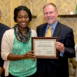 Sika Gasinu, new KP Public Health Scholar, with Jeff Oxendine, Ray Baxter and Debbie Alvarez-Rodriguez