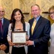 Eva Marie Montes, new KP Public Health Scholar, with Jeff Oxendine, Ray Baxter and Debbie Alvarez-Rodriguez