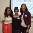 DREAM office director, Durrain Ansari-Yan MPH '12, with former SPH diversity director and founder of Summer Seminar, Abby Rincon MPH '86, and Health Policy and Management alumna Diana Camacho MPH '12