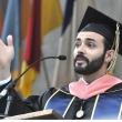 Luis Rodríguez MPH '15 (Public Health Nutrition) delivers a graduate student oration at the 2015 UC Berkeley School of Public Health Commencement.