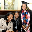 Graduating student Sara Tadesse (right) with guests.