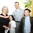 Graduating student Rachel Dent (left) with guests.