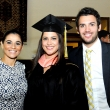 Graduating student Melissa Garzon (middle) with guests.