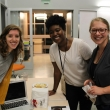Emily Altman of Team Josephine with Sika Gasinu (2014) and SPH alumna Emily Gustafson, both from Josephine.