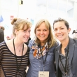 2015 Eat.Think.Design. course alumnae, Sara Draper-Zivetz and Martha Lesniewski catch up with Caesare Assad of The Cleaver Group during Innovation Feast.