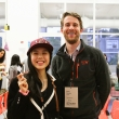Hailey Zhou and Brian Manley of Google pose for the camera.