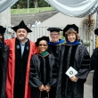 members of the School of Public Health faculty at commencement