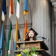 Michelle Sou BA '18 delivers the undergraduate student oration