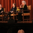 Kristine Madsen, Alice Waters and Marion Nestle on stage
