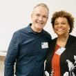 Robert Beatty and Alumni Honoree Julie Brown