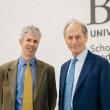 Interim Dean Will Dow with Alumni Honoree Sir Michael Marmot