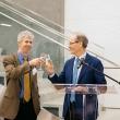 Dean Dow and Sir Marmot lead a toast