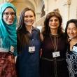Sarah Ismail, Marta Cieslak, and May Funabiki with Zahwa Amad