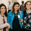 Public Health Alumni Association (PHAA) board members Lila Sheira MPH '15 and Zahwa Amad PhD '92, congratulate PHAA Diversity and Inclusion Fellowship recipient and student guest speaker, first-year MPH student, Lujain Al-Saleh.
