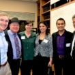 UC Berkeley School of Public Health Dean Stephen Shortell; students Paul Nugent, Mary Russell, Sukhminder Khurana, and Ravi Mehta; and program director Nap Hosang.